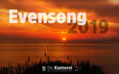Evensong 2019 am 25.05.